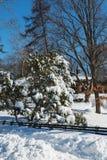 El día después de la tormenta más grande de la nieve de Nueva York Imágenes de archivo libres de regalías