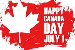 El día feliz de Canadá, celebra el 1 de julio el fondo del movimiento del cepillo con la hoja de arce libre illustration