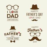 El día feliz del ` s del padre etiqueta colecciones del logotipo stock de ilustración