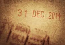 El día pasado de 2014 Fotos de archivo libres de regalías
