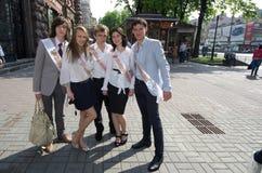 El día pasado de escuela en Kiev Fotos de archivo