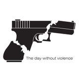 El día sin el ejemplo de la violencia Imagenes de archivo