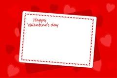 El día y la boda de las tarjetas del día de San Valentín diseñan con el sobre, tarjeta Fotos de archivo libres de regalías