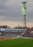 El dínamo/Moscú de FC está jugando contra FC Spartak/Moscú Fotos de archivo libres de regalías