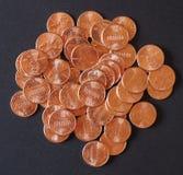 El dólar acuña 1 centavo del penique del trigo del centavo Imagen de archivo libre de regalías