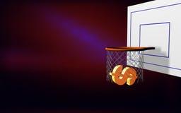 El dólar apunta basket-2 Imágenes de archivo libres de regalías