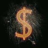 El dólar canta Imagen de archivo libre de regalías