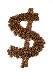 El dólar del café Foto de archivo libre de regalías