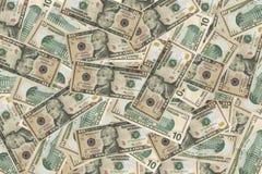 El dólar del dinero en circulación financia el fondo foto de archivo libre de regalías