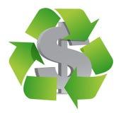 El dólar recicla Fotos de archivo