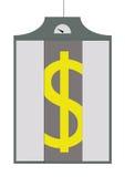 El dólar sube en un elevador Imagen de archivo