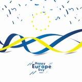 El d?a feliz de Europa celebra el ejemplo del dise?o de la plantilla del vector de la bandera libre illustration
