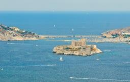 El d'if del castillo francés, Marsella, Francia Fotos de archivo libres de regalías