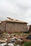 El daño después de un F5 rasgó a través de Moore Oklahoma Fotos de archivo