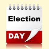 El día de elección indica encuesta y la cita del mes Imagen de archivo libre de regalías