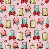 El día de fiesta rosado del vector mira al trasluz la Navidad festiva Imagen de archivo libre de regalías