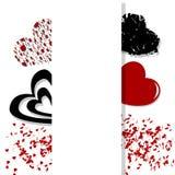 el día de las Corazón-tarjetas del día de San Valentín Imagen de archivo libre de regalías