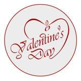 El día de tarjeta del día de San Valentín caligráfico. Foto de archivo