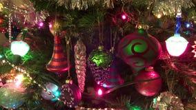 El día pasado para el árbol de navidad almacen de video