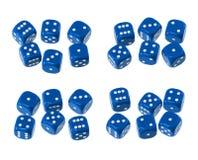 El dado fija el azul ilustración del vector