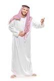 El dar la bienvenida árabe de la persona Imágenes de archivo libres de regalías