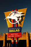 El dar la bienvenida de Pegaso firma adentro a Dallas Texas Imagenes de archivo