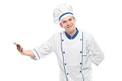 El dar la bienvenida del cocinero Fotografía de archivo