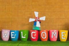 El dar la bienvenida y concepto de los saludos Fotografía de archivo libre de regalías