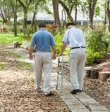 El dar un paseo en el jardín Fotos de archivo libres de regalías
