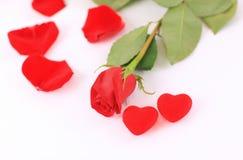 El Day.Isolated de la tarjeta del día de San Valentín Fotografía de archivo