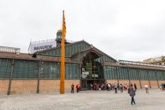 EL de Barcelona da inauguração carregado centímetro cúbico Imagens de Stock