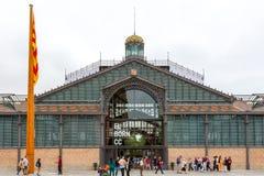 EL de Barcelona da inauguração carregado centímetro cúbico Fotografia de Stock Royalty Free