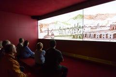 EL de Barcelona de la inauguración llevado cc Imagenes de archivo
