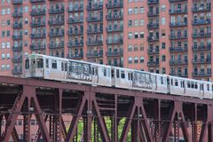 EL de Chicago Images stock