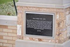 El ` de Davey O brien la placa en Texas Christian University Imagenes de archivo