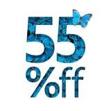el 55% de descuento El concepto de primavera o de venta del sammer, cartel elegante, bandera, promoción, anuncios Ilustración del Vector