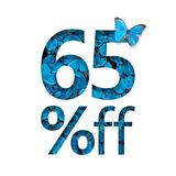 el 65% de descuento El concepto de primavera o de venta del sammer, cartel elegante, bandera, promoción, anuncios Fotos de archivo libres de regalías