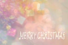 el De-foco blured de objeto de la Navidad y colorido de los copos de nieve B fotografía de archivo libre de regalías