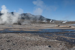 EL de Geothermicfield Tatio - Chili Images libres de droits