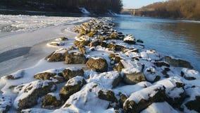 El ¼ de la nieve Grà nen Fluss Imagen de archivo