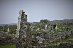 El ` de las iglesias del ` siete en la isla del MOR de INiS foto de archivo