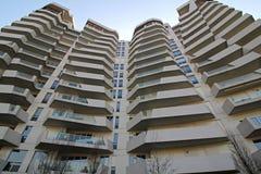 El ` de las residencias de Libeskind del ` en Citylife; Milán, Italia imagen de archivo
