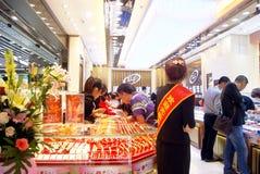 China de Shenzhen: joyería del oro Fotografía de archivo libre de regalías