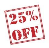 el 25% de sello rojo Fotografía de archivo libre de regalías