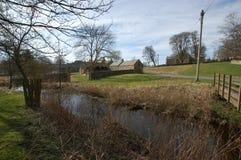 El decano del molino, Elsdon Northumberland imagenes de archivo