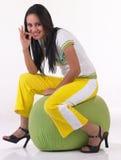 El decir indio moderno de la muchacha excelente Imagen de archivo libre de regalías
