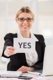 El decir sí a usted. Imágenes de archivo libres de regalías