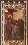 El decreto del St Ladislao da al primer obispo de Zagreb imagenes de archivo