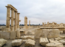 El decumanus en el Palmyra, Siria Foto de archivo libre de regalías