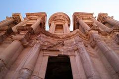 El Deir against clear blue sky Stock Image
